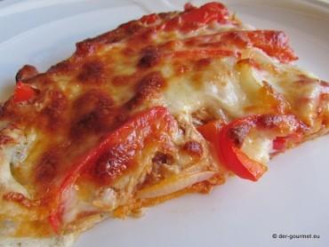 Pizza tonno e pepe rosso