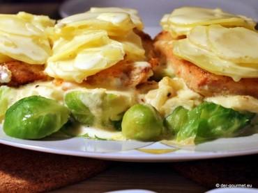 Norwegischer Lachs mit Kartoffeln und Rosenkohl