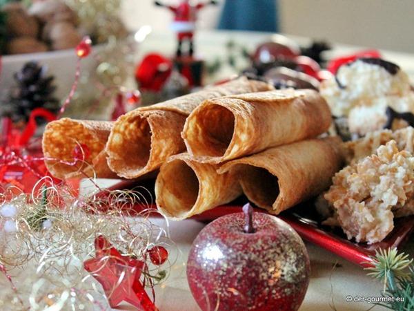 Weihnachtliche Eiserwaffeln