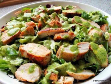 Hähnchen Carpaccio mit Salsa verde
