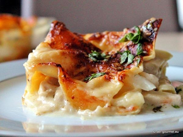 Hähnchen Spargel Lasagne