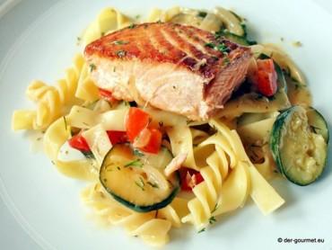Zucchini Fisch Pfanne